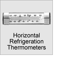 Horizontal Refrigeration Thermometers