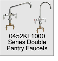 0452KL1000 Series Double Pantry Faucets