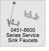 0451-8600 Series Service Sink Faucets