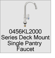 0456KL2000 Series Deck Mount Single Pantry Faucets