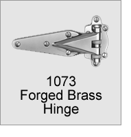 1073 Forged Brass Hinge