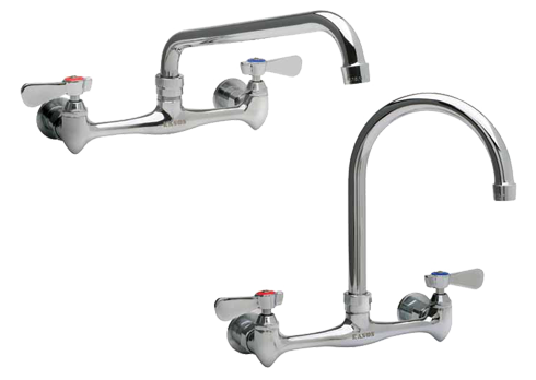 faucet to mount american handle polished wall utility in p standard commercial sink widespread yoke faucets exposed chrome