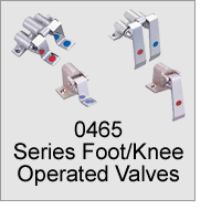0465 Series Foot/Knee Operated Valves