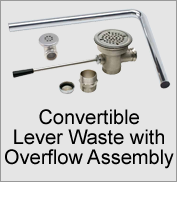 Convertible Lever Waste with Overflow Assembly
