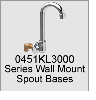 0451KL3000 Series Wall Mount Spout Bases
