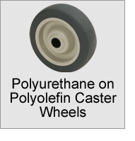 Polyurethane on Polyolefin Caster Wheels