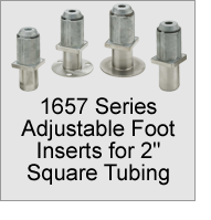 "1657 Foot Inserts for 2"" Square Tubing"