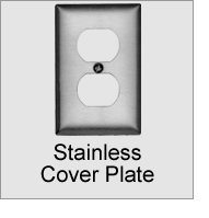 EEA-0S8 Stainless Cover Plate
