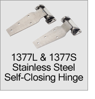 1377S & 1377L Stainless Steel Self Closing Hinges