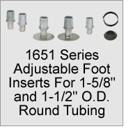"1651 Foot Inserts for 1-5/8"" and 1-1/2"" O.D. Round Tubing"