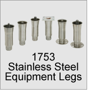 "1753 2"" O.D. Stainless Steel Legs"