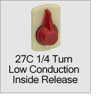 27C 1/4 Turn Low Conduction Inside Release