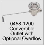 0458-1200 Convertible Outlet with Optional Overflow