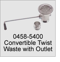 0458-5400 Convertible Twist Waste with Outlet