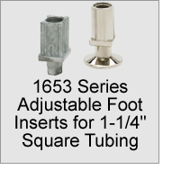 "1653 Foot Inserts for 1-1/4"" Square Tubing"