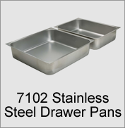 7102 Stainless Steel Drawer Pans