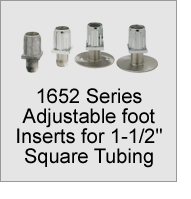 "1652 Foot Inserts for 1-1/2"" Square Tubing"