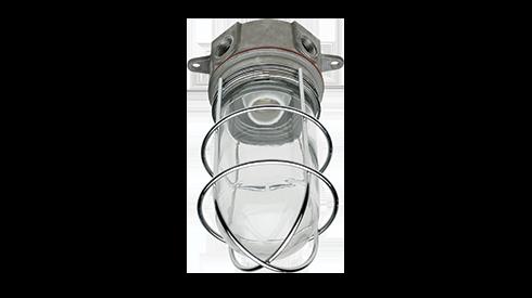 Vapor-Proof Walk-In Box Light Fixture Globe w//Guard